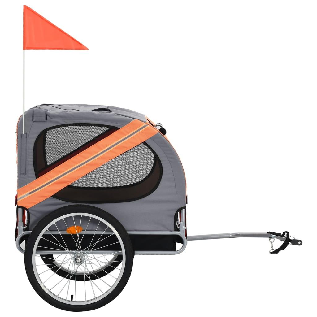 9991764 Hunde-Fahrradanhänger Orange und Grau