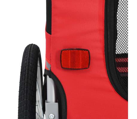 vidaXL Dog Bike Trailer Red and Black[5/7]