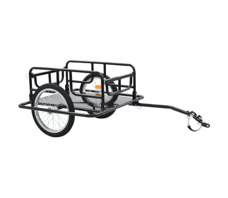 "vidaXL Bike Cargo Trailer 51.2""x28.7""x19.7"" Steel Black"