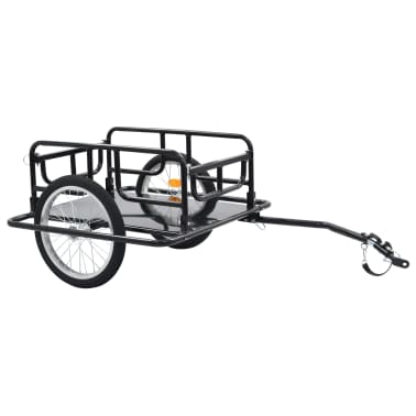 "vidaXL Bike Cargo Trailer 51.2""x28.7""x19.7"" Steel Black[1/10]"