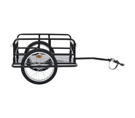 "vidaXL Bike Cargo Trailer 51.2""x28.7""x19.7"" Steel Black[2/10]"