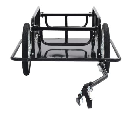"vidaXL Bike Cargo Trailer 51.2""x28.7""x19.7"" Steel Black[3/10]"