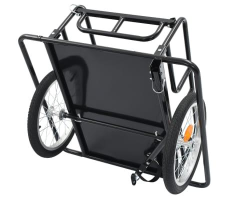 "vidaXL Bike Cargo Trailer 51.2""x28.7""x19.7"" Steel Black[5/10]"