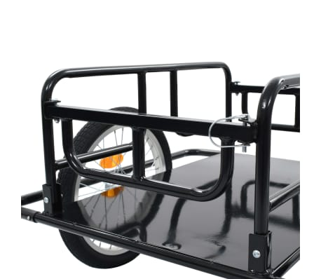 "vidaXL Bike Cargo Trailer 51.2""x28.7""x19.7"" Steel Black[6/10]"