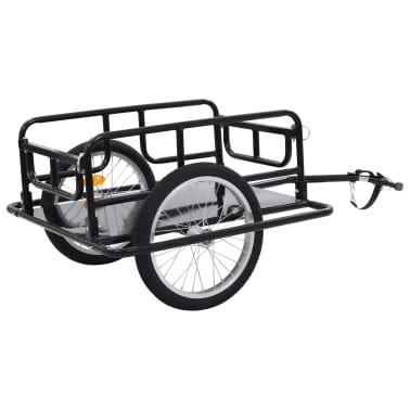 "vidaXL Bike Cargo Trailer 51.2""x28.7""x19.7"" Steel Black[4/10]"
