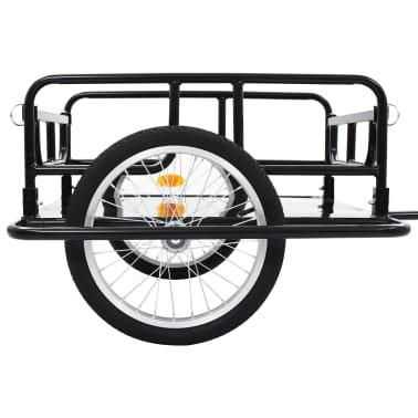 "vidaXL Bike Cargo Trailer 51.2""x28.7""x19.7"" Steel Black[7/10]"