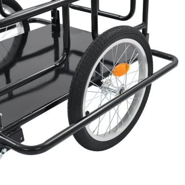 "vidaXL Bike Cargo Trailer 51.2""x28.7""x19.7"" Steel Black[8/10]"
