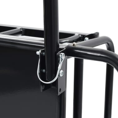 "vidaXL Bike Cargo Trailer 51.2""x28.7""x19.7"" Steel Black[9/10]"