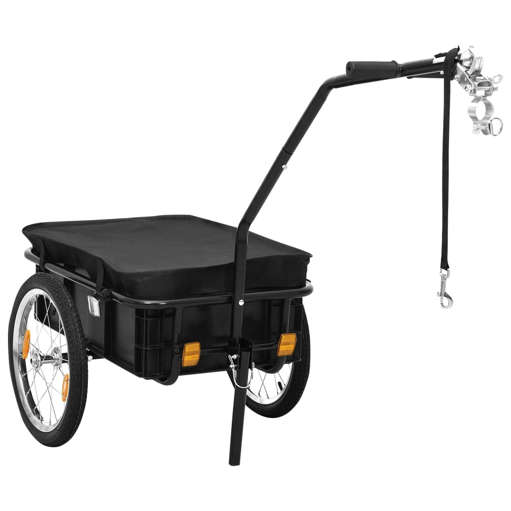 vidaXL Bike Cargo Trailer/Hand Wagon 155x61x83 cm Steel Black