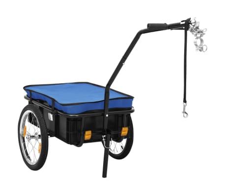 vidaXL Fietskar/trekwagen 155x61x83 cm staal blauw
