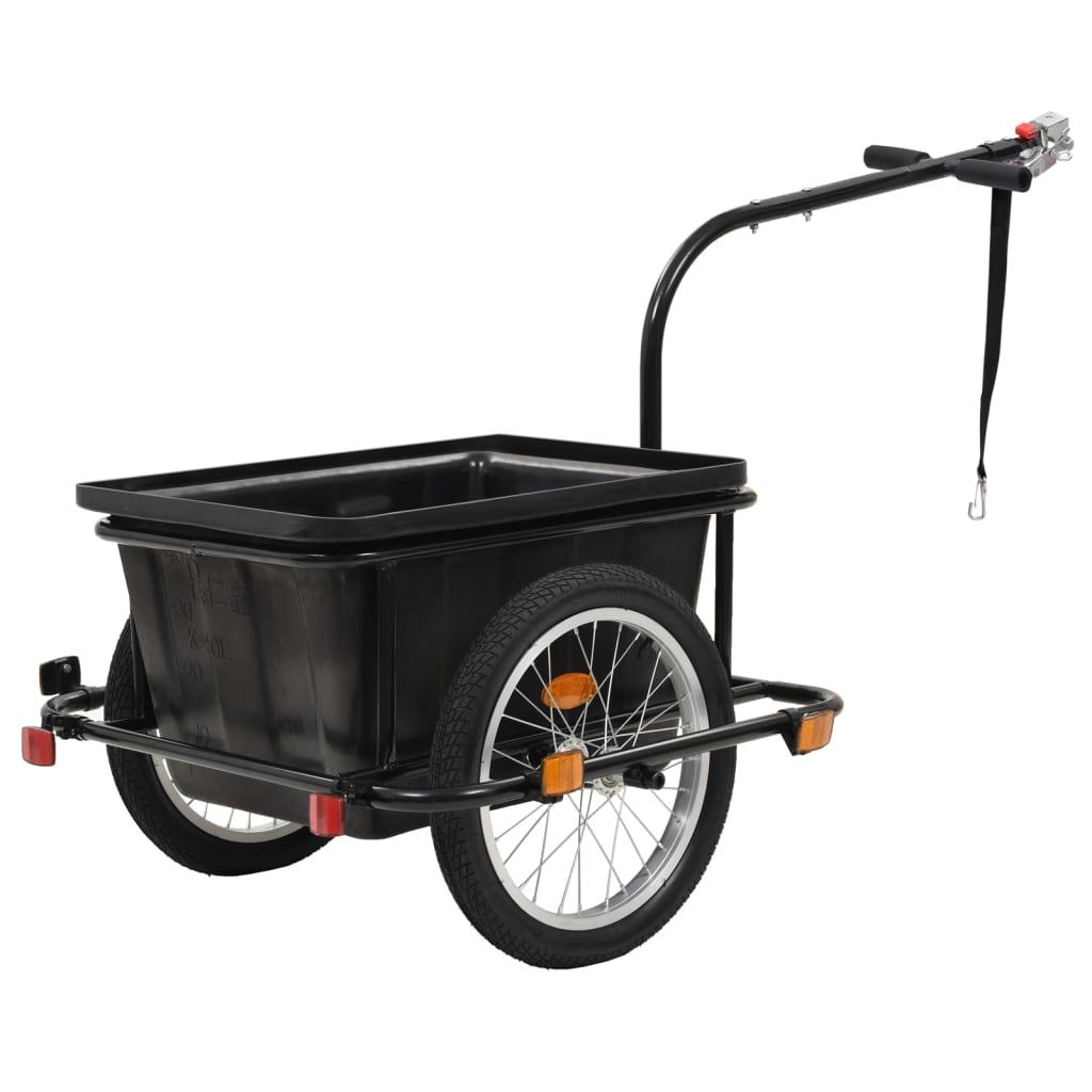 vidaXL Přívěsný vozík za kolo černý 50 l