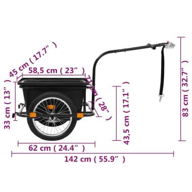 vidaXL Fietskar 50 L zwart[8/10]