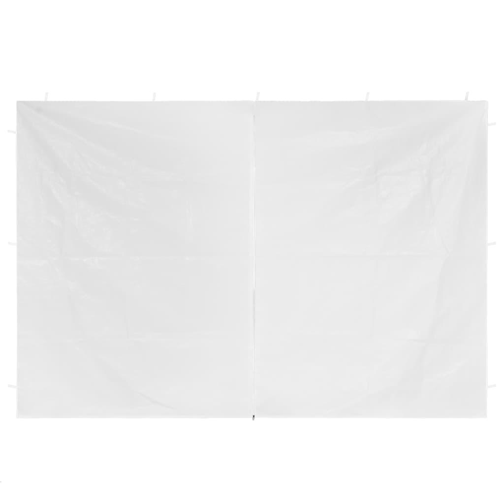 vidaXL Patytentdeuren 2 st met ritssluiting wit