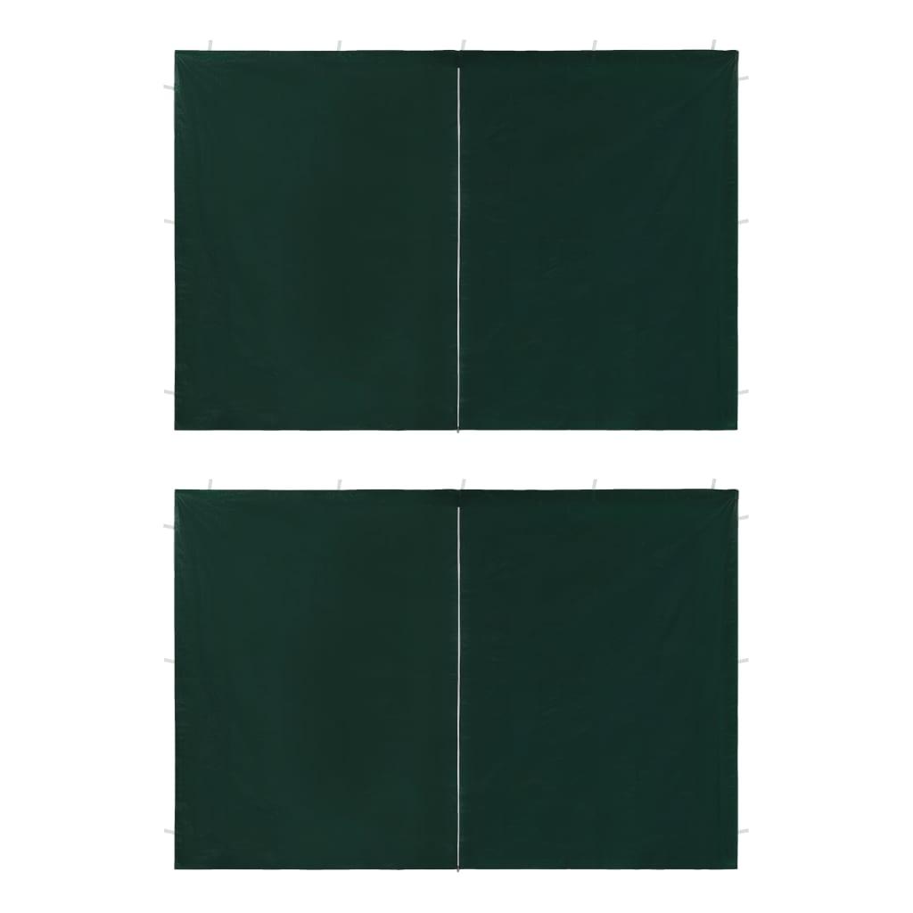 Dveře k party stanu 2 ks se zipem zelené