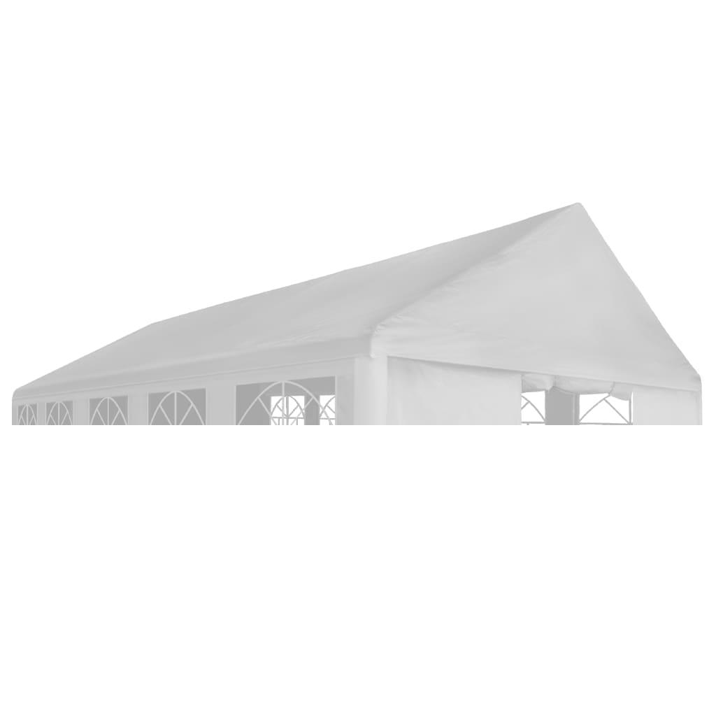 vidaXL Acoperiș de cort de petrecere, alb, 5 x 10 m vidaxl.ro