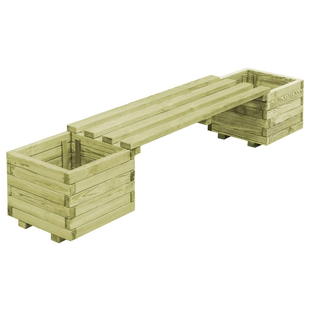 vidaXL Bancă de grădină cu jardiniere, lemn de pin tratat poza vidaxl.ro