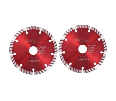 vidaXL Disques de coupe diamantés 2 pcs avec acier turbo 125 mm[1/5]
