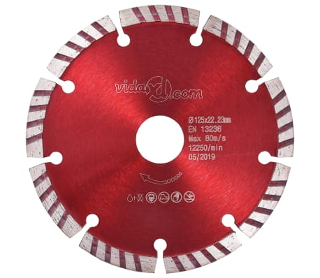 vidaXL Disques de coupe diamantés 2 pcs avec acier turbo 125 mm[2/5]