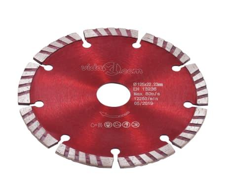 vidaXL Disques de coupe diamantés 2 pcs avec acier turbo 125 mm[3/5]