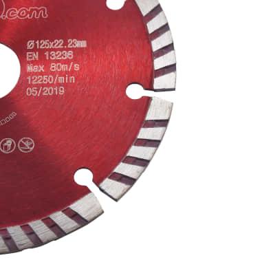vidaXL Disques de coupe diamantés 2 pcs avec acier turbo 125 mm[4/5]