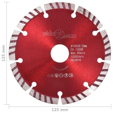 vidaXL Disques de coupe diamantés 2 pcs avec acier turbo 125 mm[5/5]