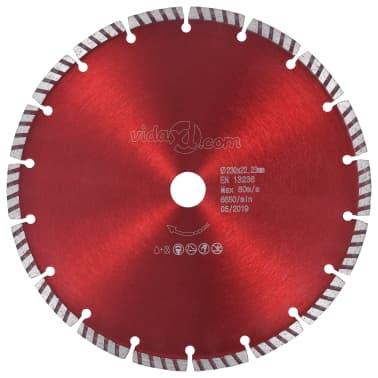 vidaXL Disque de coupe diamanté avec acier turbo 230 mm[1/4]
