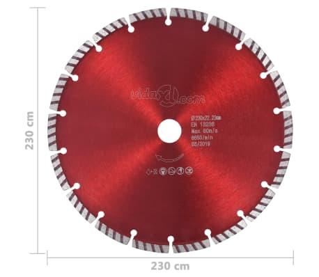 vidaXL Disque de coupe diamanté avec acier turbo 230 mm[4/4]