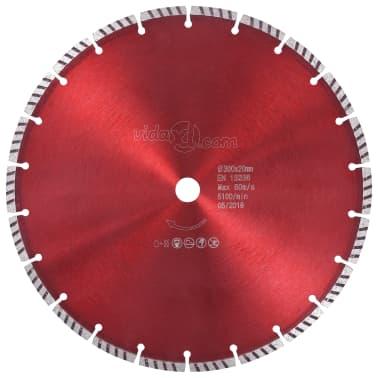 vidaXL Disque de coupe diamanté avec acier turbo 300 mm[1/4]