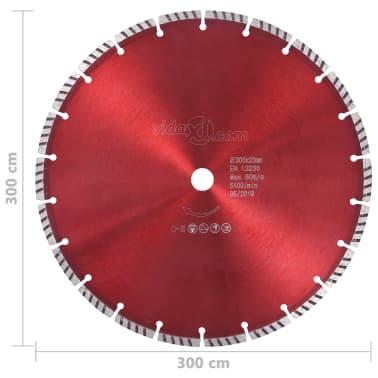 vidaXL Disque de coupe diamanté avec acier turbo 300 mm[4/4]