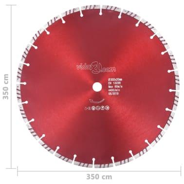 vidaXL Disque de coupe diamanté avec turbo Acier 350 mm[4/4]