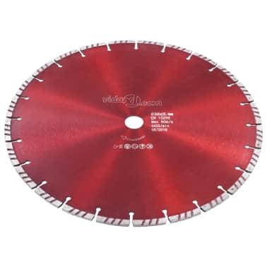 vidaXL Disque de coupe diamanté avec turbo Acier 350 mm[2/4]