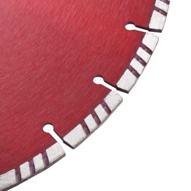 vidaXL Disque de coupe diamanté avec turbo Acier 350 mm[3/4]