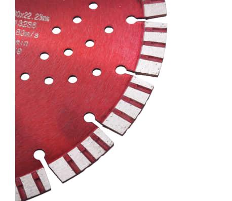 vidaXL Disque de coupe diamanté avec turbo et trous Acier 230 mm[3/4]