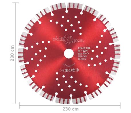 vidaXL Disque de coupe diamanté avec turbo et trous Acier 230 mm[4/4]