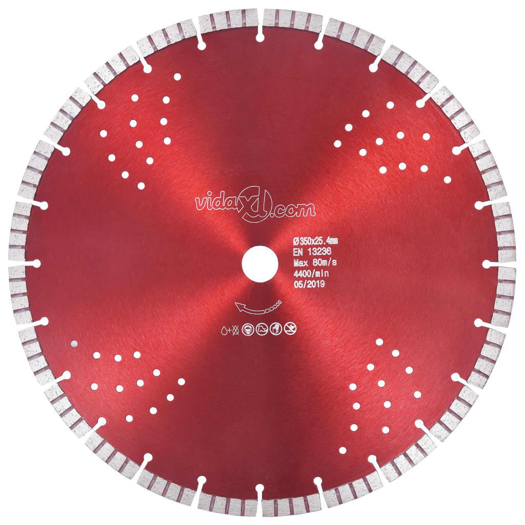 vidaXL Disc diamantat de tăiere cu segmente turbo și găuri oțel 350 mm imagine vidaxl.ro