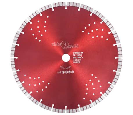 vidaXL Disque de coupe diamanté avec turbo et trous Acier 350 mm[1/4]