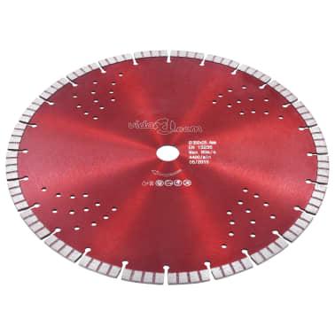vidaXL Disque de coupe diamanté avec turbo et trous Acier 350 mm[2/4]