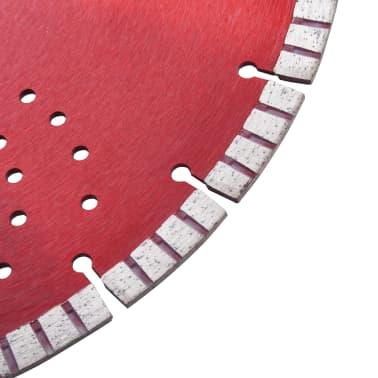 vidaXL Disque de coupe diamanté avec turbo et trous Acier 350 mm[3/4]