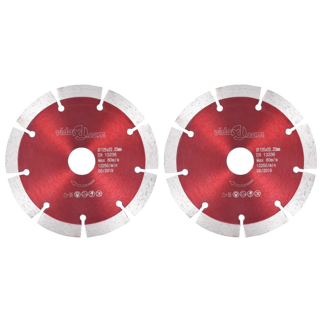 vidaXL Discuri diamantate de tăiere, 2 buc., oțel, 125 mm vidaxl.ro