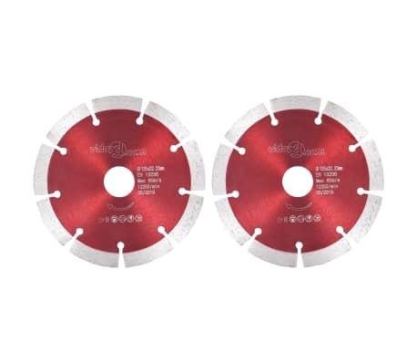 vidaXL Diamantklingor 2 st stål 125 mm