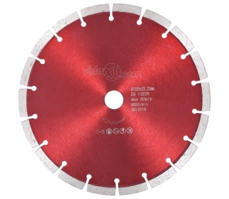 vidaXL Diamantklinga stål 230 mm