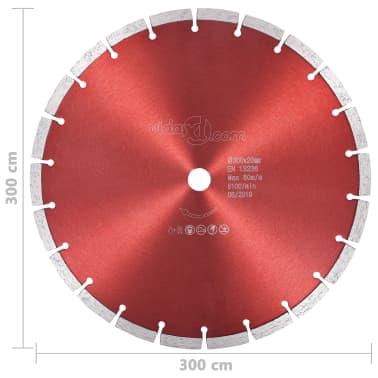 vidaXL Disque de coupe diamanté Acier 300 mm[4/4]