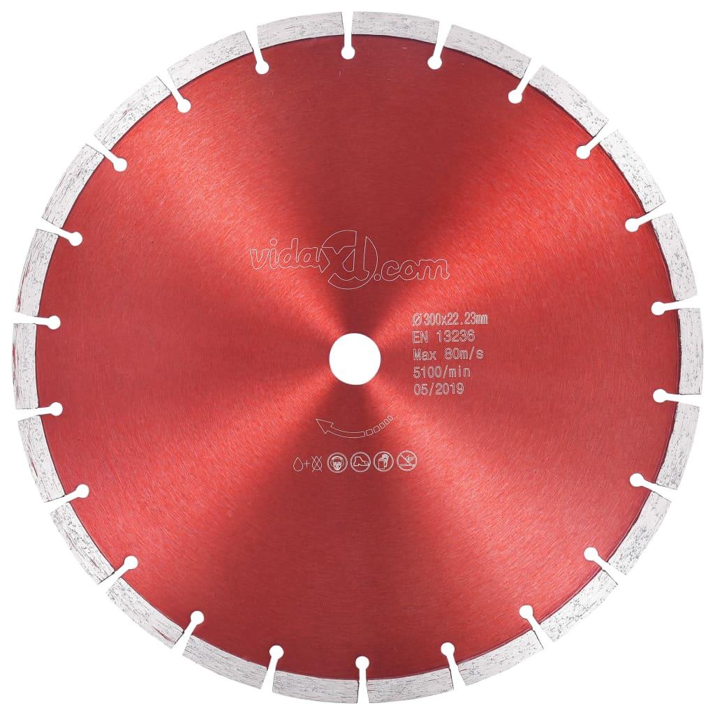 vidaXL Disc diamantat de tăiere, oțel, 300 mm imagine vidaxl.ro