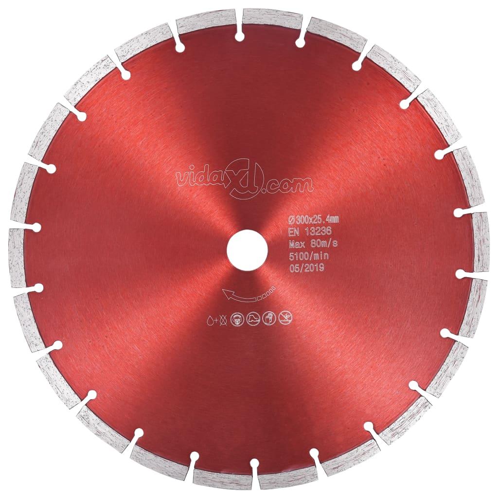 vidaXL Disc diamantat de tăiere, oțel, 300 mm vidaxl.ro