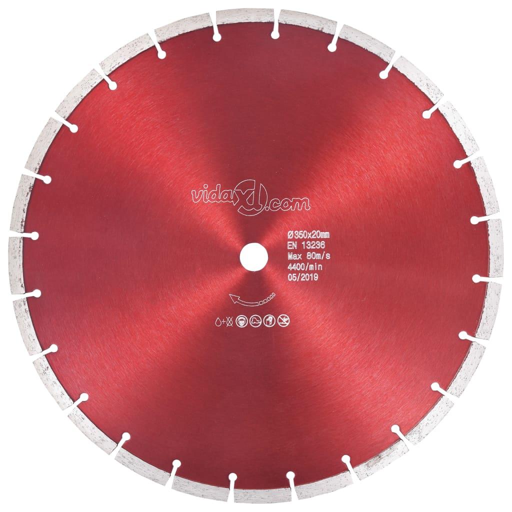 vidaXL Disc diamantat de tăiere, oțel, 350 mm imagine vidaxl.ro