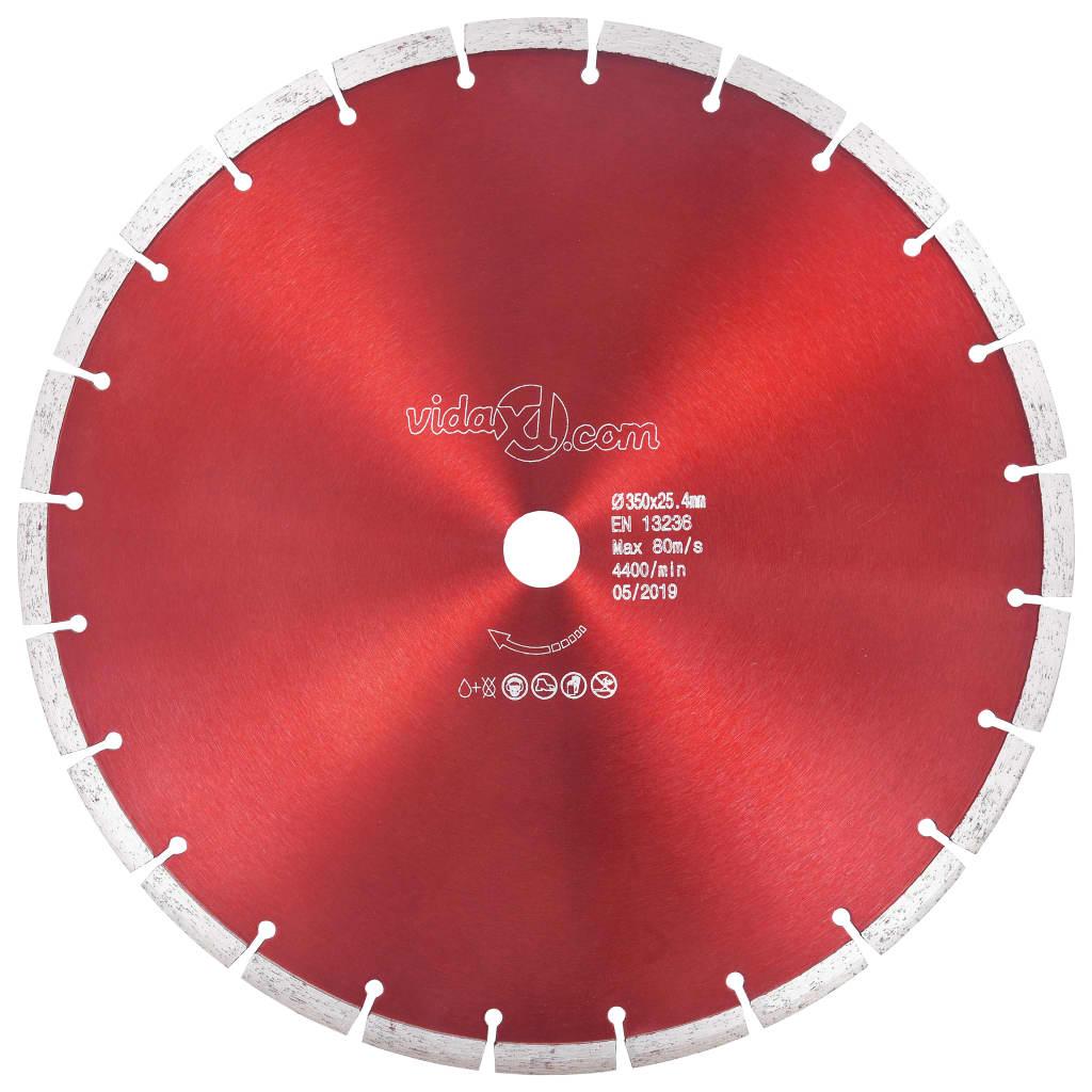vidaXL Disc diamantat de tăiere, oțel, 350 mm vidaxl.ro
