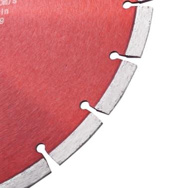 vidaXL Disque de coupe diamanté Acier 350 mm[3/4]
