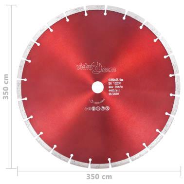vidaXL Disque de coupe diamanté Acier 350 mm[4/4]