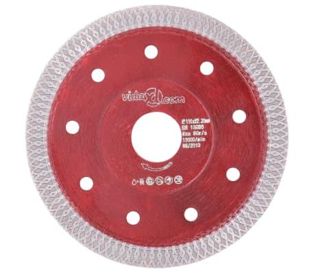 vidaXL Diamantklinga med hål 115 mm