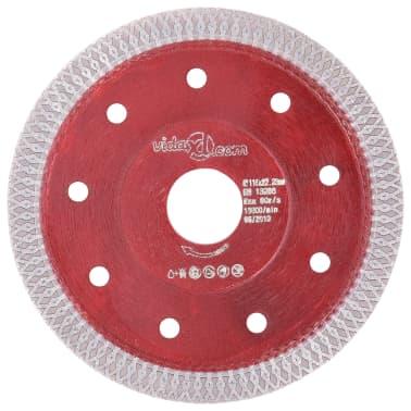 vidaXL Disque de coupe diamanté avec trous Acier 115 mm[1/4]